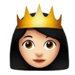 Princess: Light Skin Tone Emoji (U+1F478, U+1F3FB)