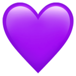 Purple Heart Emoji (U+1F49C)