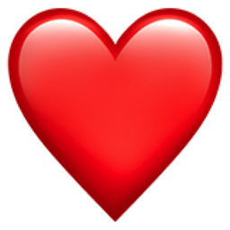 Red Heart Emoji (U+2764, U+FE0F)