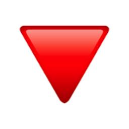 Red Triangle Pointed Down Emoji (U+1F53B)