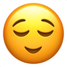 Relieved Face Emoji U1f60c