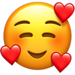 Smiling Face with 3 Hearts Emoji (U+1F970)