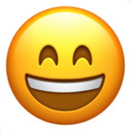 Smiling Face With Open Mouth And Smiling Eyes Emoji U1f604