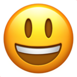 Smiling Face with Open Mouth Emoji (U+1F603)