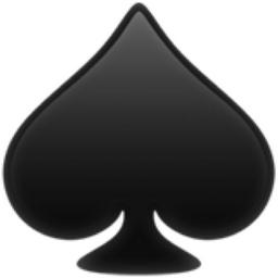 spade card emoji  Spade Suit Emoji (U+7, U+FE7F)