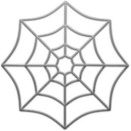 Spider Web Emoji (U+1F578)