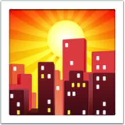 Sunset Emoji (U+1F307)