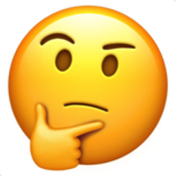 Image result for thinking face emoji