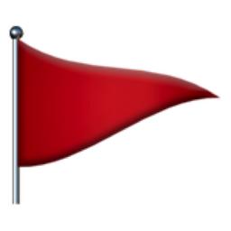Triangular Flag Emoji (U+1F6A9)