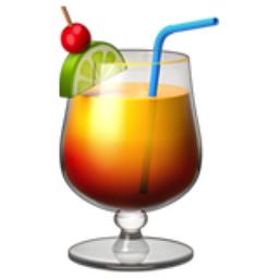 Tropical Drink Emoji (U+1F379)