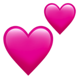 Two Hearts Emoji U 1f495
