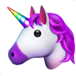 Unicorn Face Emoji (U+1F984)