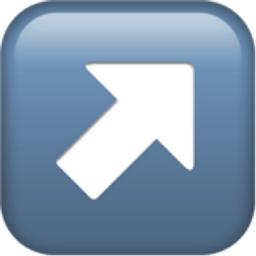 Up Right Arrow Emoji U 2197 U Fe0f