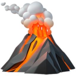 Volcano Emoji (U+1F30B)