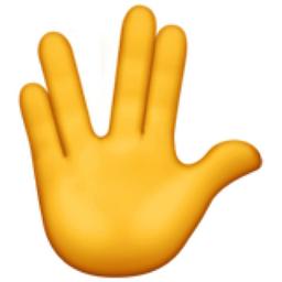 Vulcan Salute Emoji (U+1F596)