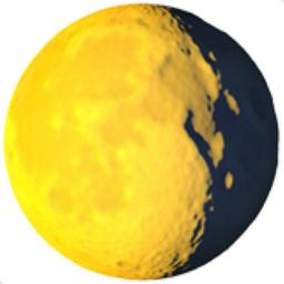 Waning Gibbous Moon Emoji (U+1F316)