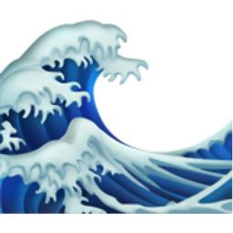 Water Wave Emoji (U+1F30A)