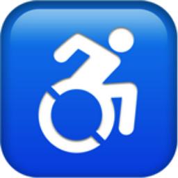 Wheelchair Symbol Emoji (U+267F, U+FE0F)