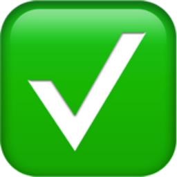 White Heavy Check Mark Emoji (U+2705)