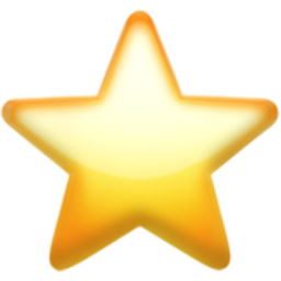 White Medium Star Emoji (U+2B50, U+FE0F)