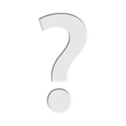 White Question Mark Emoji U 2754