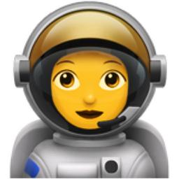 Woman Astronaut Emoji (U+1F469, U+200D, U+1F680)
