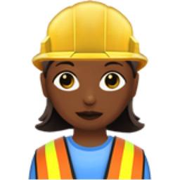 Woman Construction Worker: Medium-Dark Skin Tone Emoji (U+