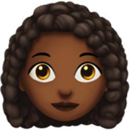 Woman Curly Haired Medium Dark Skin Tone Emoji U 1f469 U 1f3fe