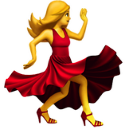 Woman Dancing Emoji (U+1F483)