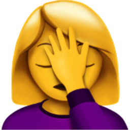 Woman Facepalming Emoji (U+1F926, U+200D, U+2640, U+FE0F)