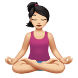 woman in lotus position light skin tone emoji u1f9d8
