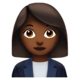 Woman Office Worker Medium Dark Skin Tone Emoji U 1f469 U 1f3fe U 0d U 1f4bc