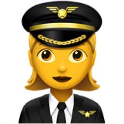 Woman Pilot Emoji (U+1F469, U+200D, U+2708, U+FE0F)