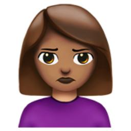 Woman Pouting Medium Skin Tone Emoji U 1f64e U 1f3fd