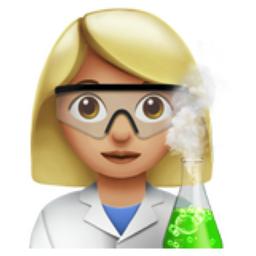 Woman Scientist: Medium-Light Skin Tone Emoji (U+1F469, U+1F3FC, U+200D,  U+1F52C)