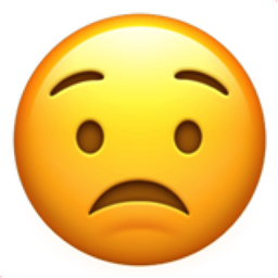 Worried Face Emoji (U+1F61F)