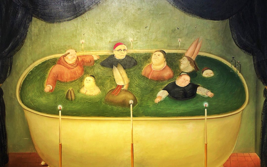 Susan Rennie ~ In the Vatican tub with Botero