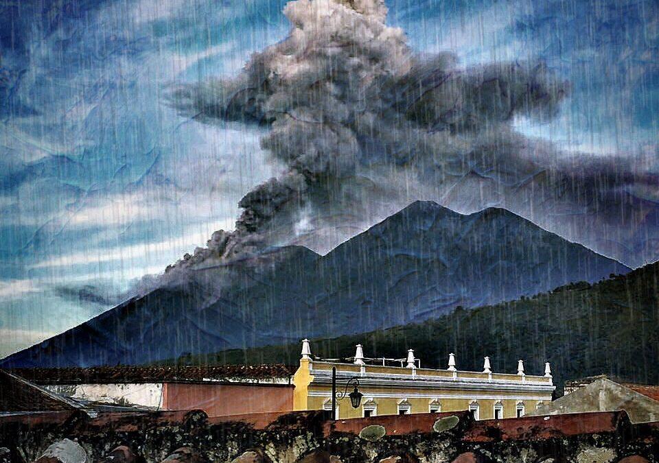 Enrique Estrada ~ Fire Volcano eruption in Antigua