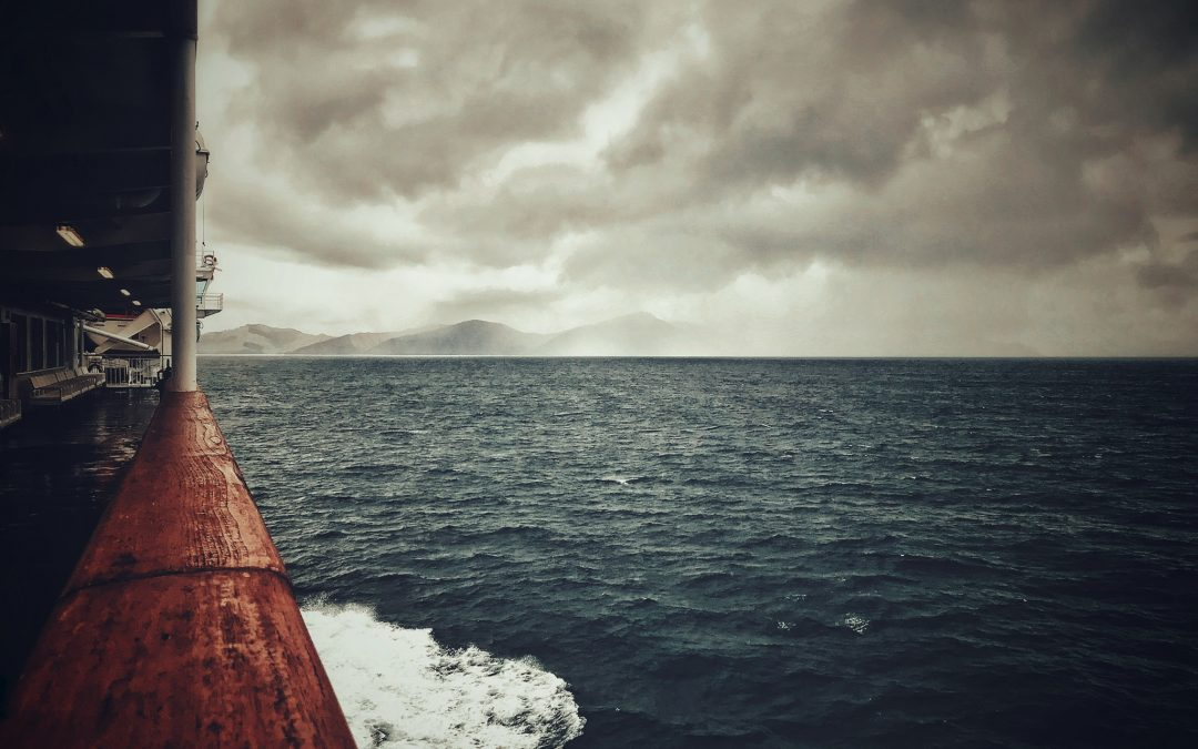 {sunday} Leon Williams ~ Out in the middle of Cook Strait between down pours. NZ.