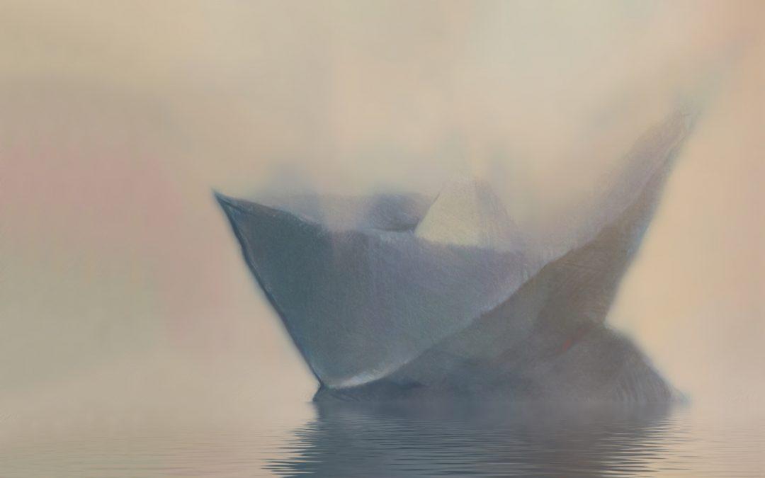 Meri Walker ~ Caught On a Rock in a Fog.