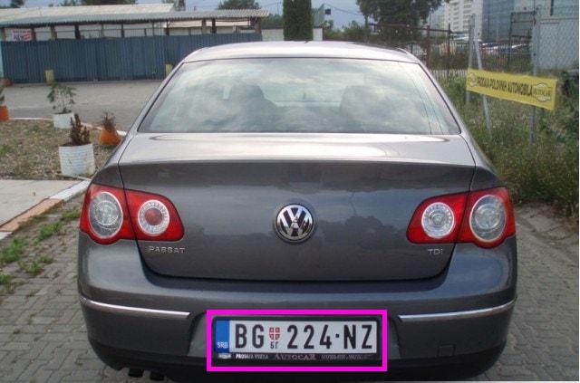 license plate car