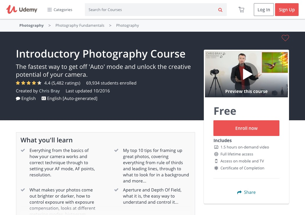 23 Top Online Photography Classes for Beginners
