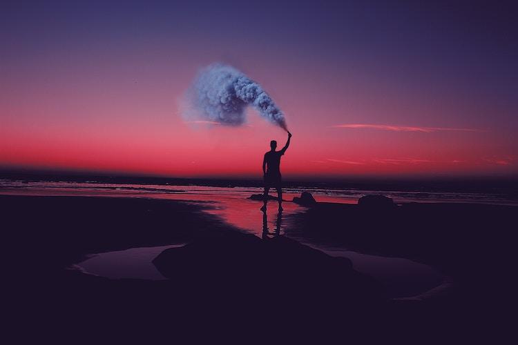 Smoke Bomb Photography Landscape - Pixpa