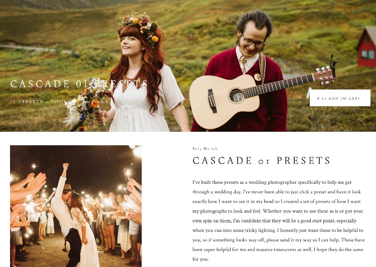 Cascade Presets for tricky light