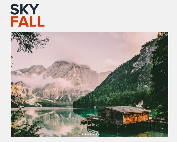 Skyfall landscape photography presets