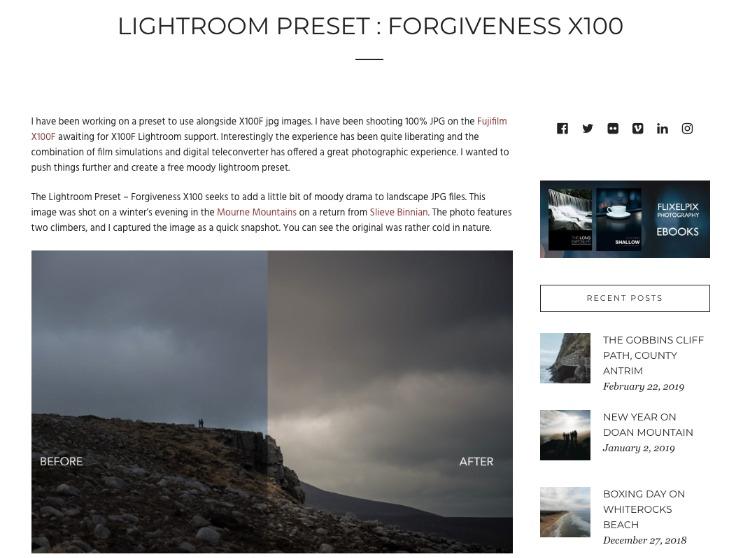 Forgiveness X100 dramatic presets