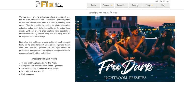 Lightroom presets for darkness & mood