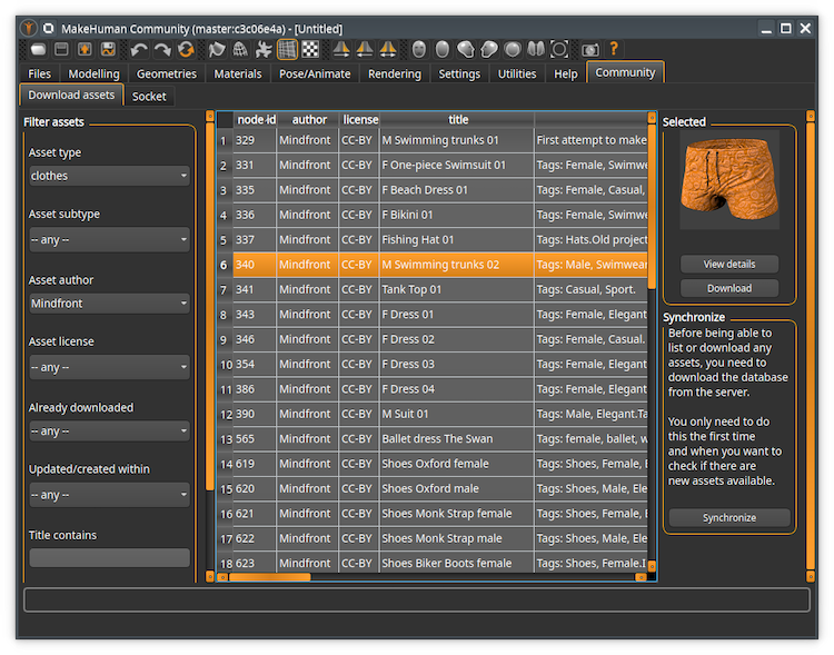MakeHuman - free 3d modeling software