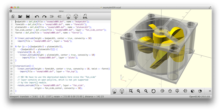 OpenSCAD - The Programmers Solid 3D CAD Modeller