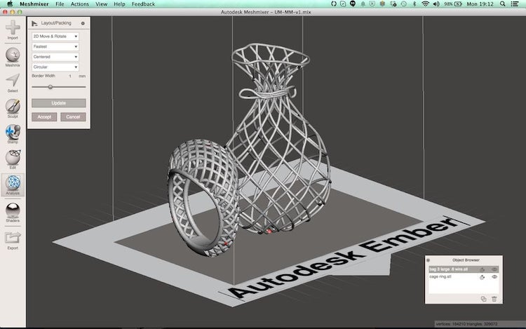 Meshmixer - 3d mesh design software